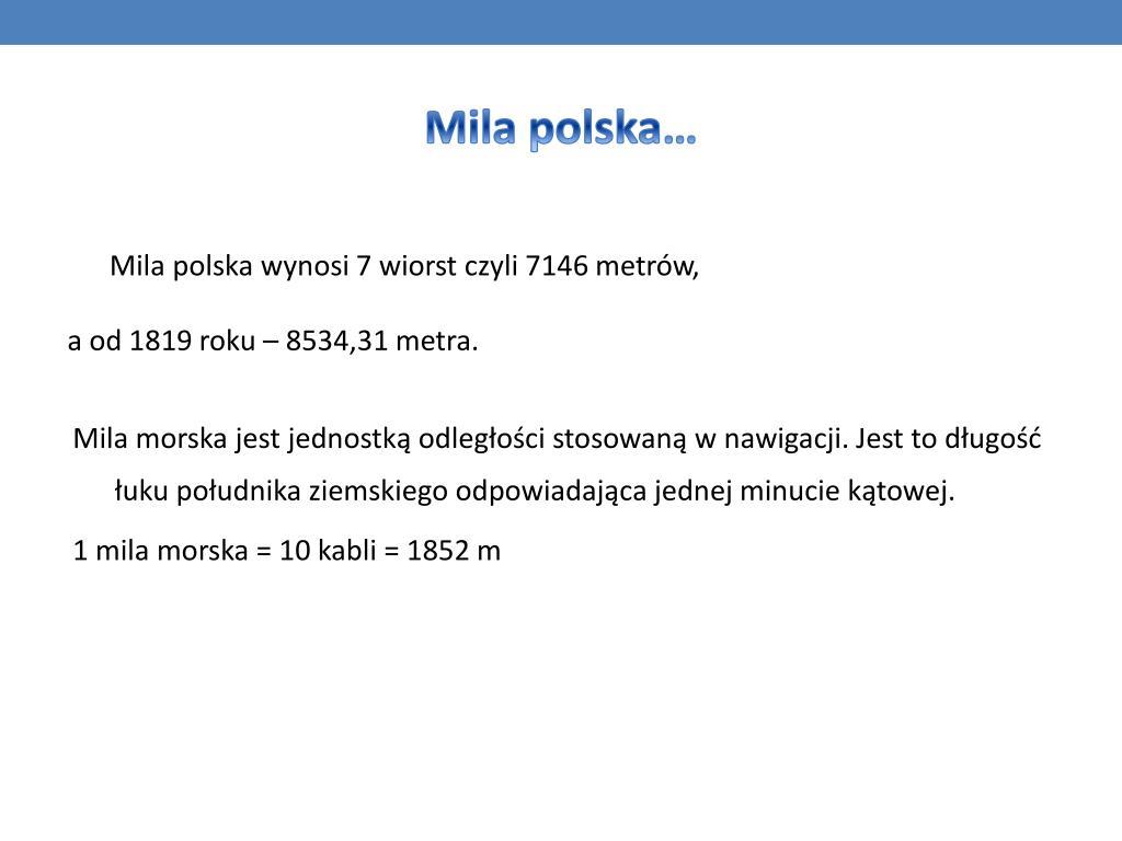 Mila polska…