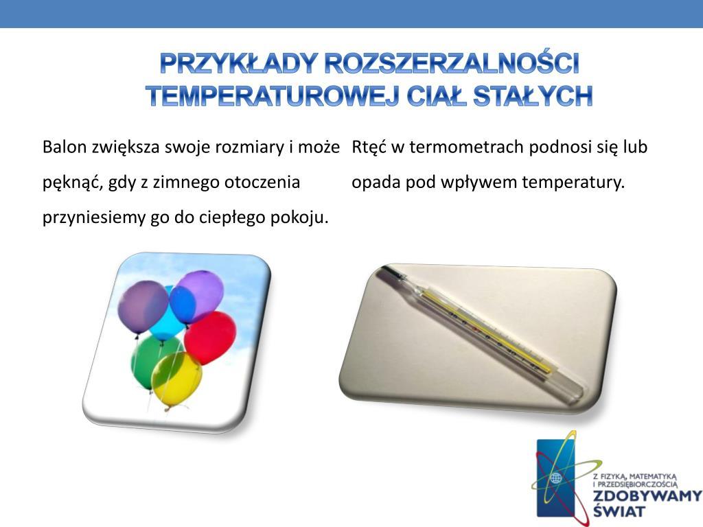 Przykłady rozszerzalności temperaturowej ciał stałych