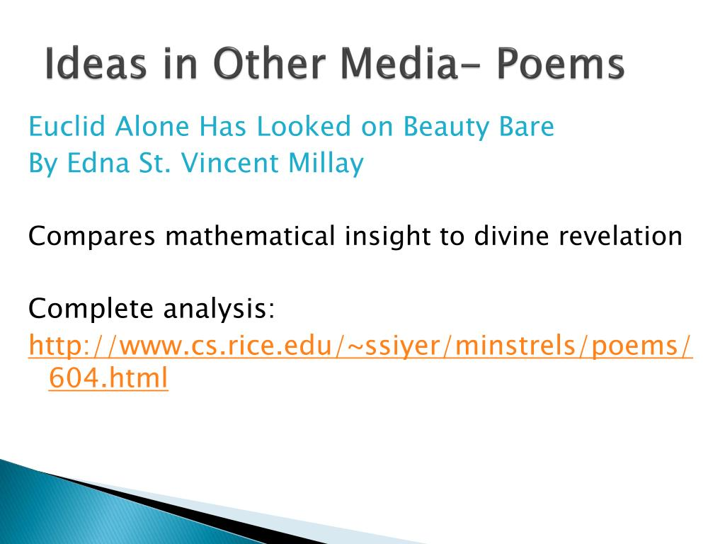 Ideas in Other Media- Poems