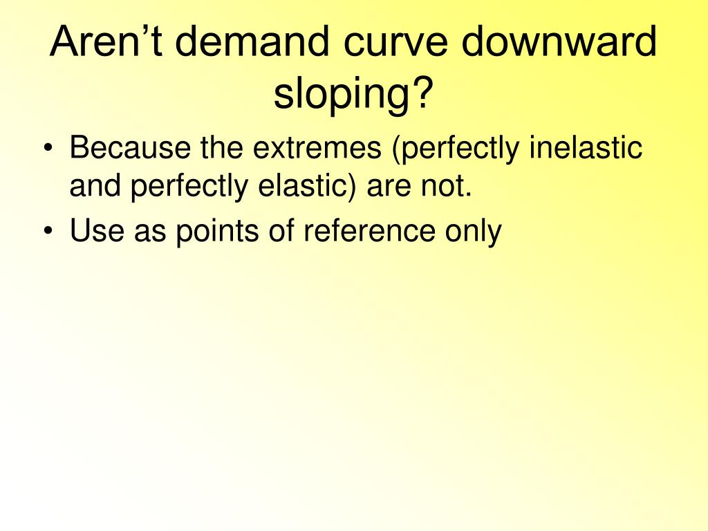 Aren't demand curve downward sloping?
