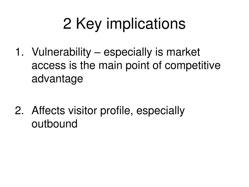 2 Key implications