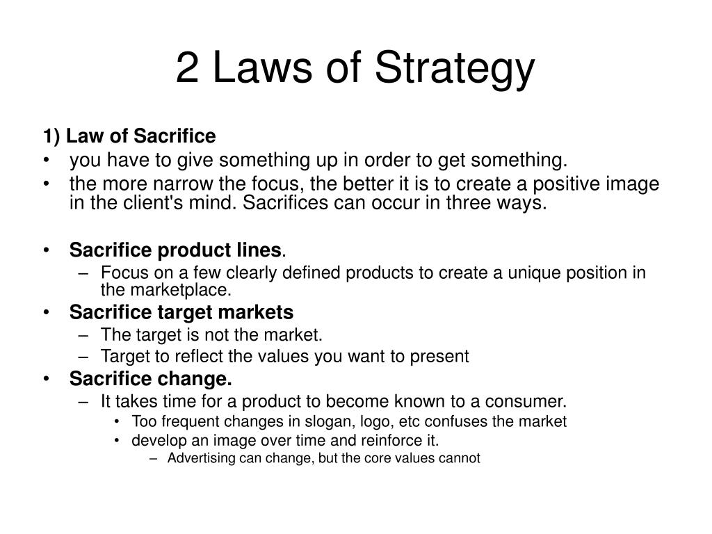 2 Laws of Strategy