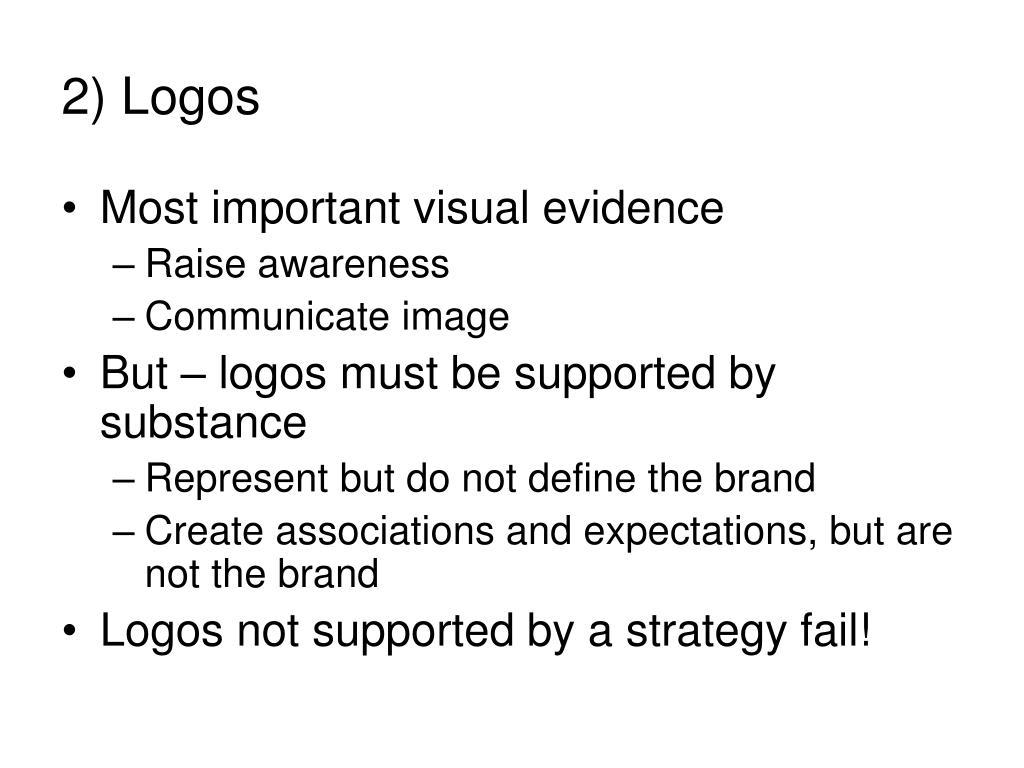 2) Logos