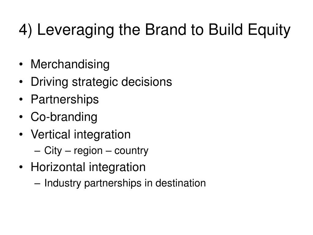4) Leveraging the Brand to Build Equity