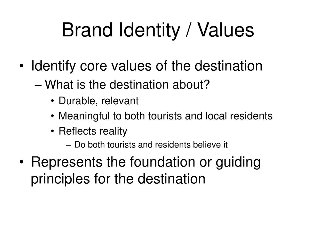 Brand Identity / Values