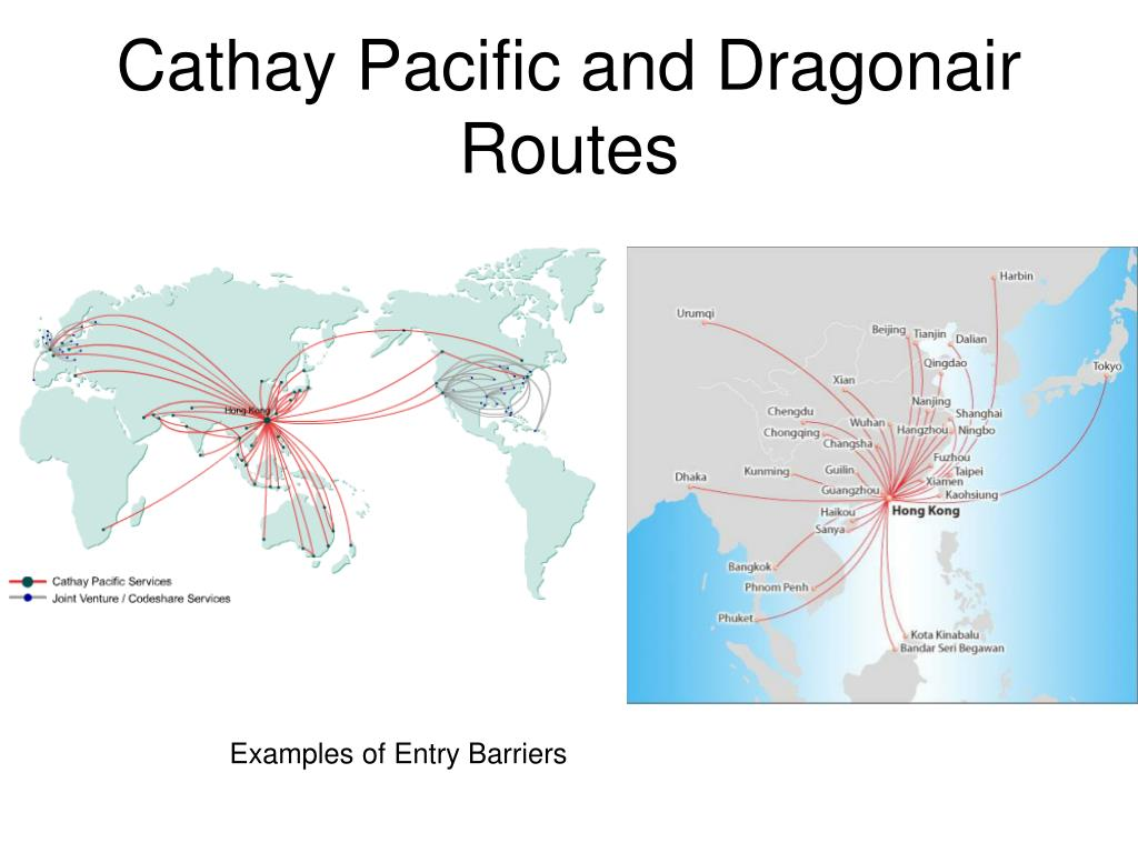 Cathay Pacific and Dragonair Routes