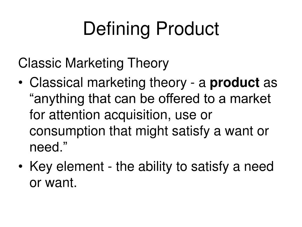 Defining Product