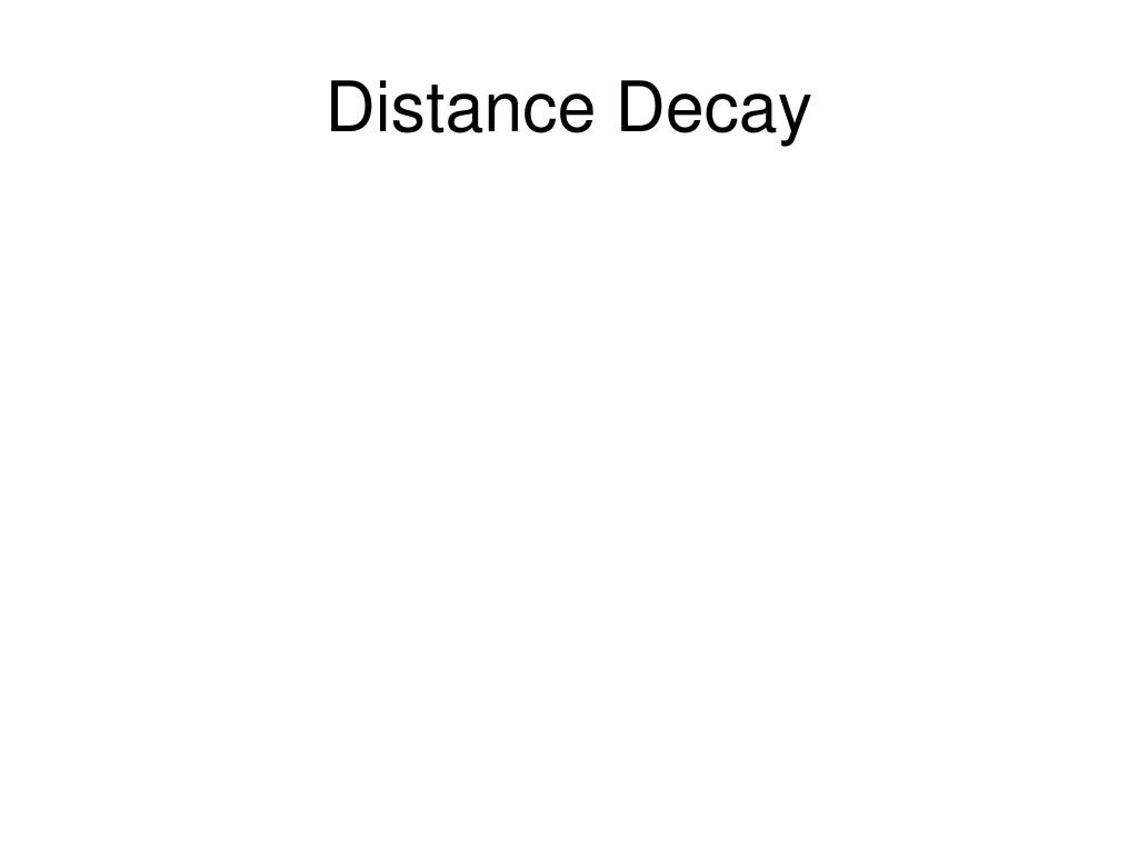 Distance Decay