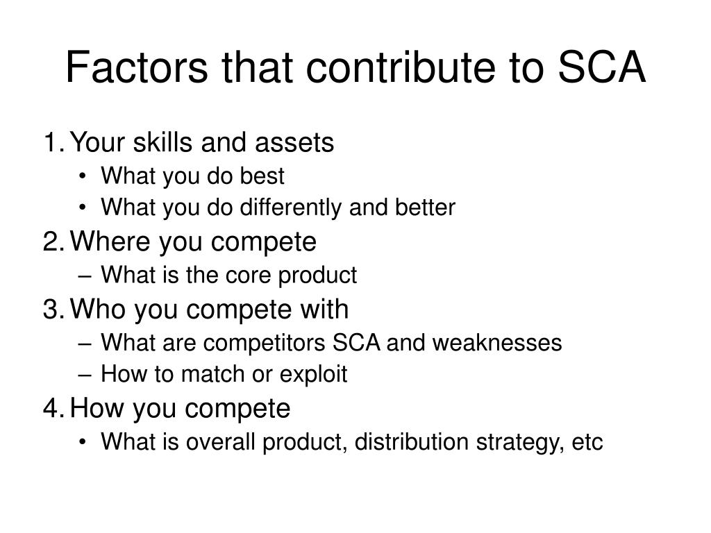 Factors that contribute to SCA