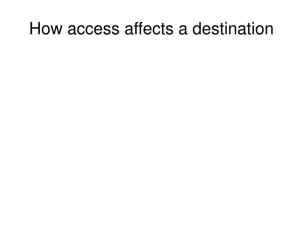 How access affects a destination
