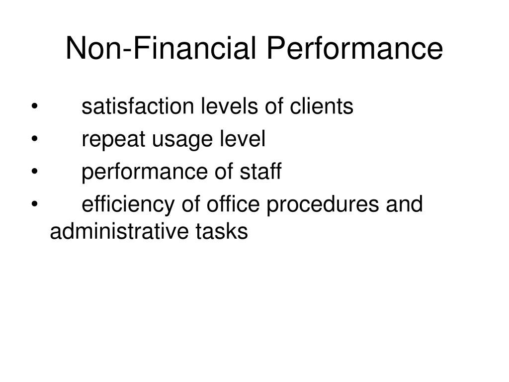 Non-Financial Performance