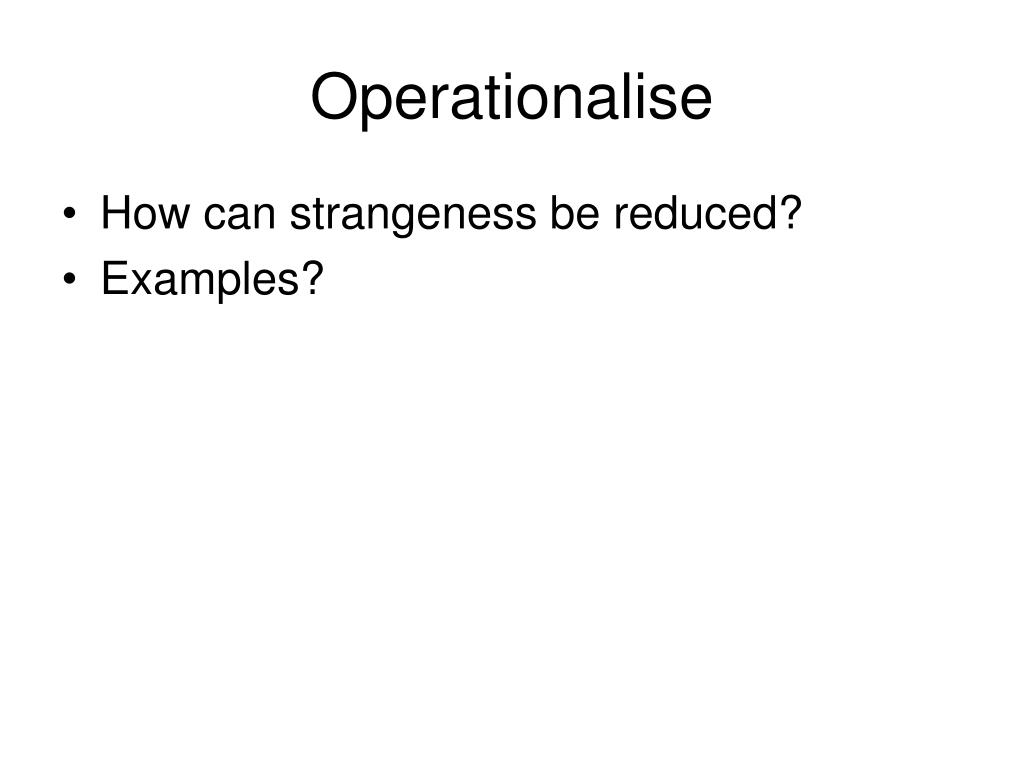 Operationalise