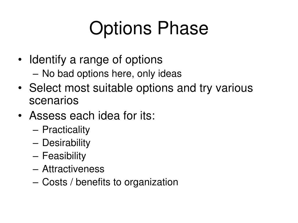 Options Phase