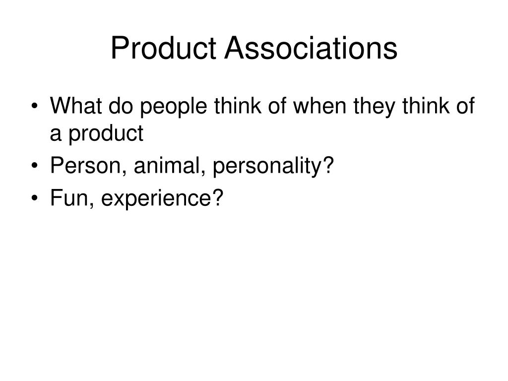 Product Associations