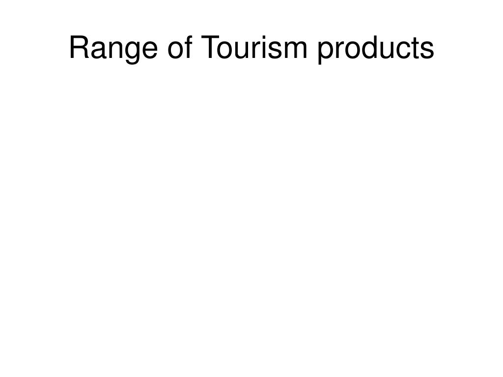 Range of Tourism products