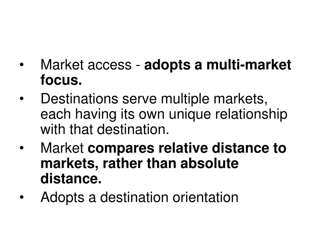 Market access -