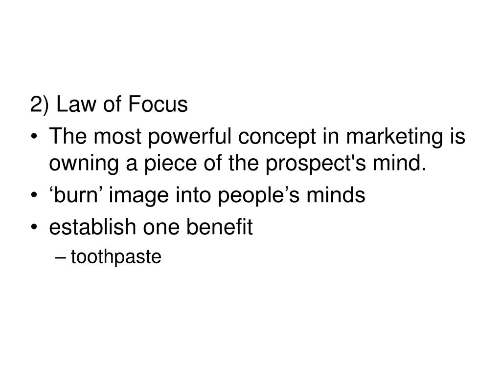 2) Law of Focus
