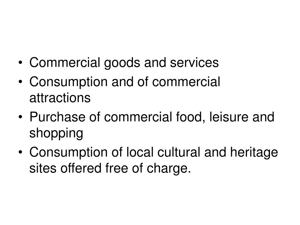 Commercial goods and services