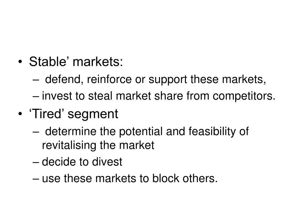 Stable' markets: