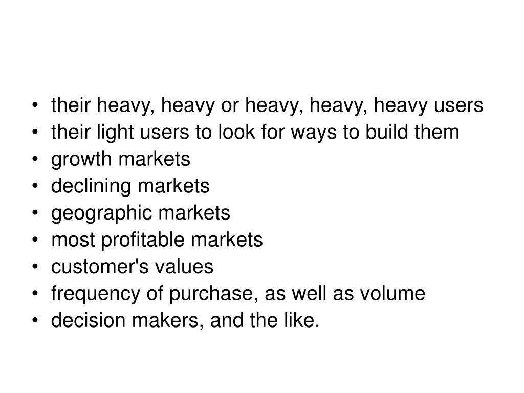 their heavy, heavy or heavy, heavy, heavy users