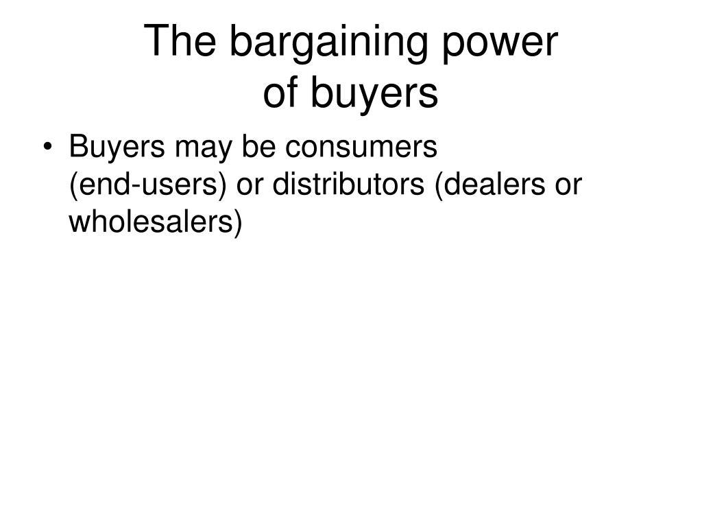 The bargaining power