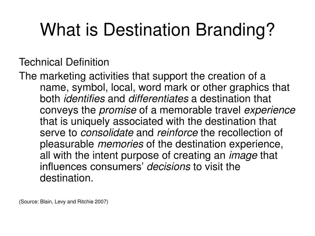 What is Destination Branding?