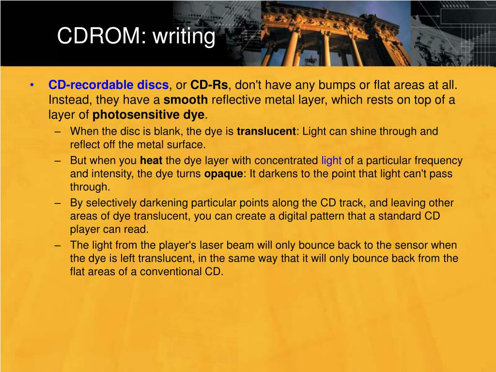 CDROM: writing