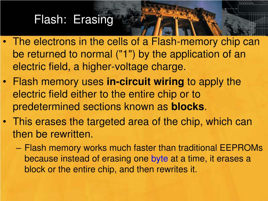 Flash:  Erasing