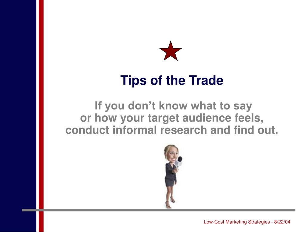 Tips of the Trade