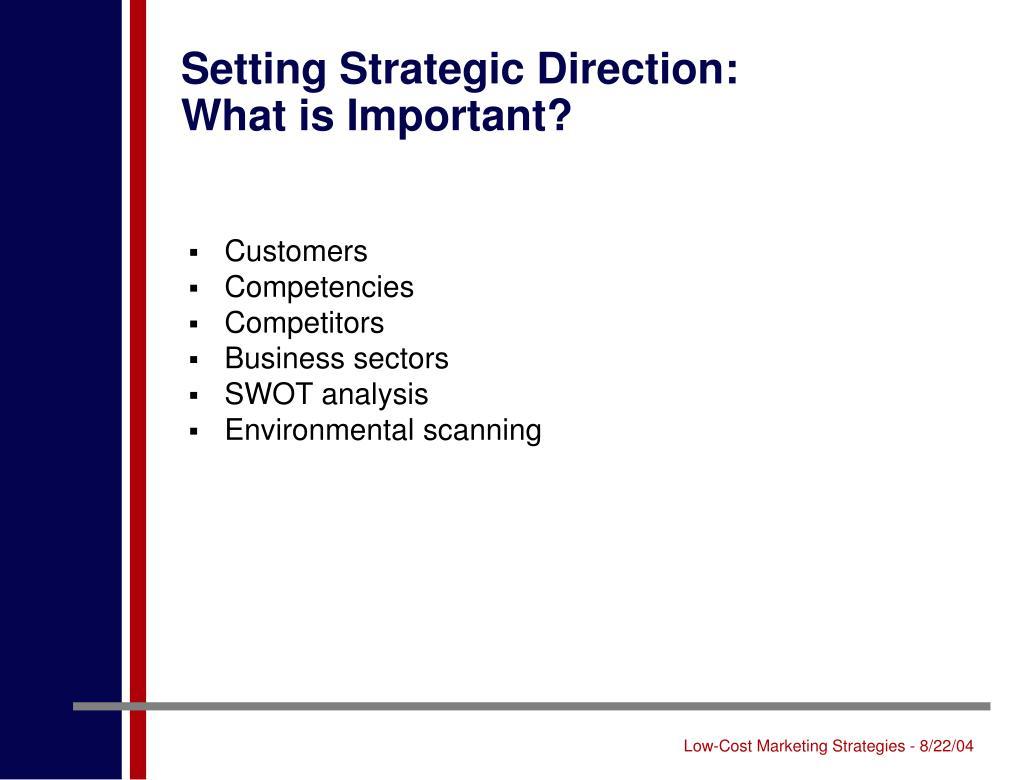 Setting Strategic Direction: