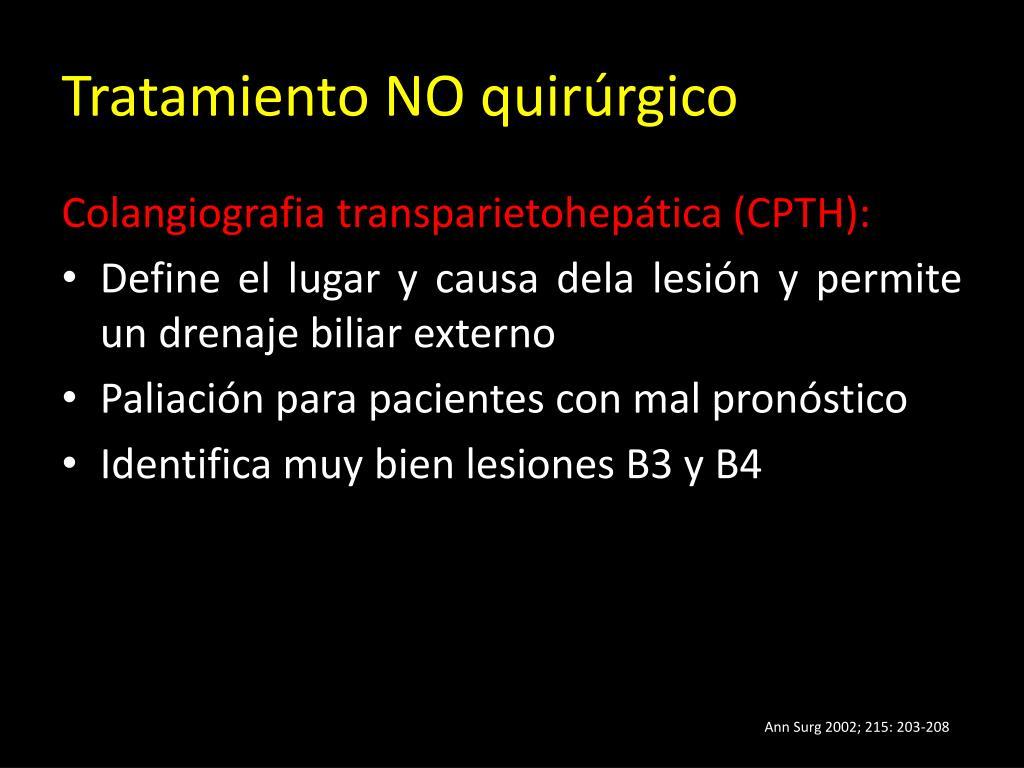 Tratamiento NO quirúrgico