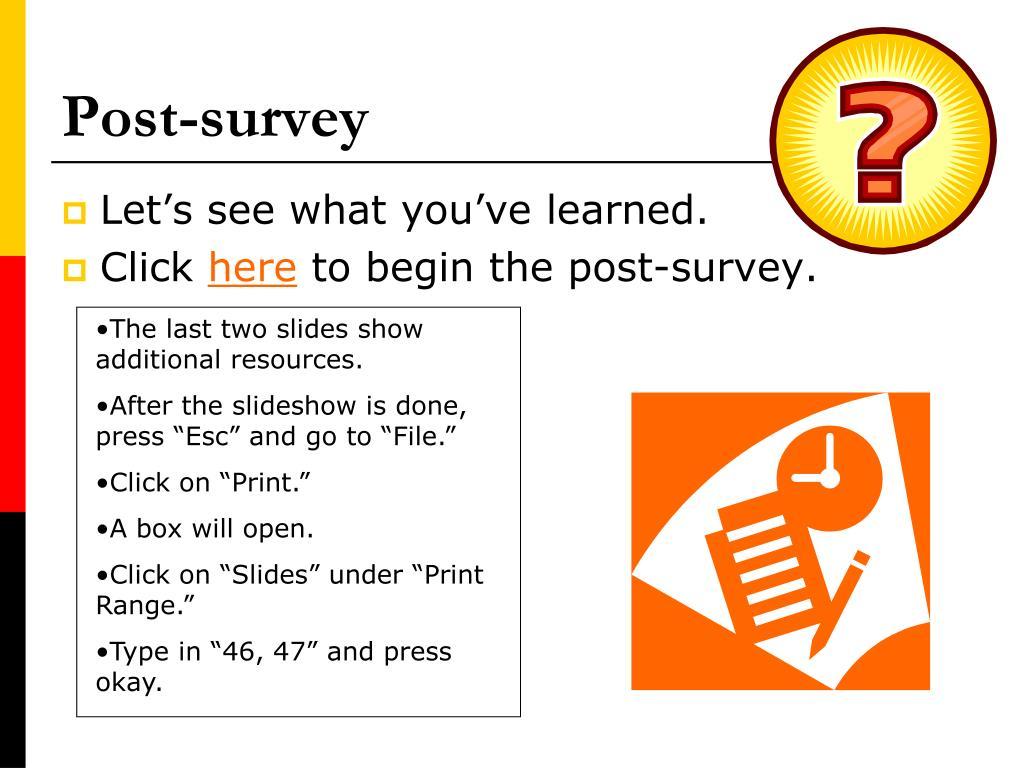 Post-survey