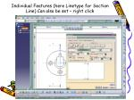 individual features here linetype for section line can also be set right click