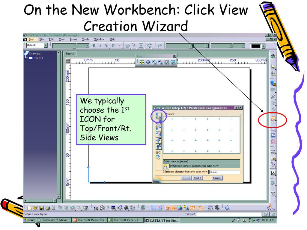 On the New Workbench: Click View Creation Wizard