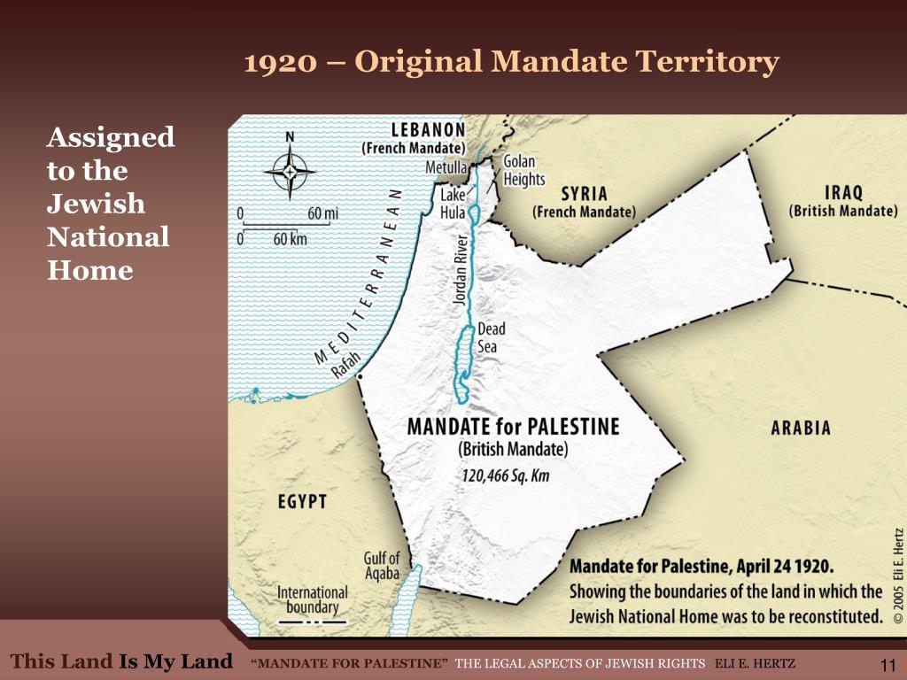 1920 – Original Mandate Territory