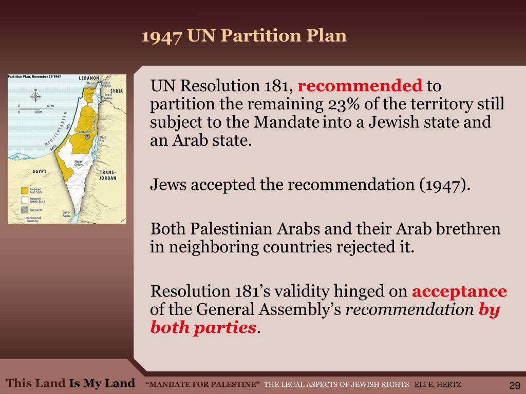 1947 UN Partition Plan