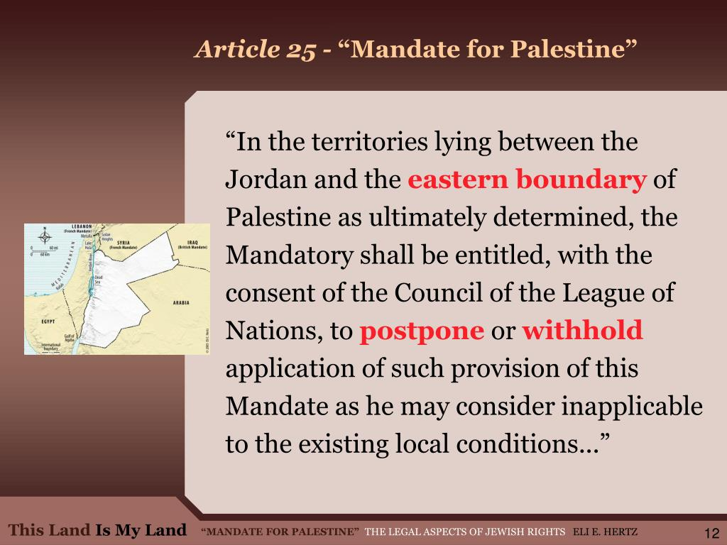 Article 25 -