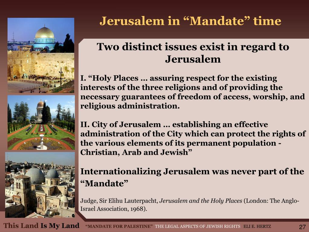 "Jerusalem in ""Mandate"" time"