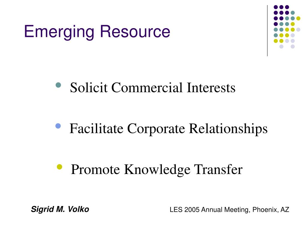 Emerging Resource