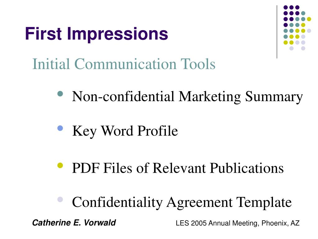 Initial Communication Tools
