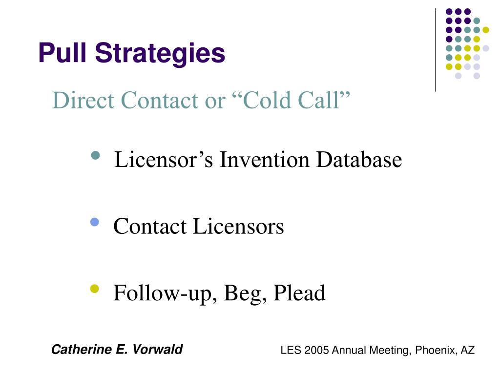 Pull Strategies