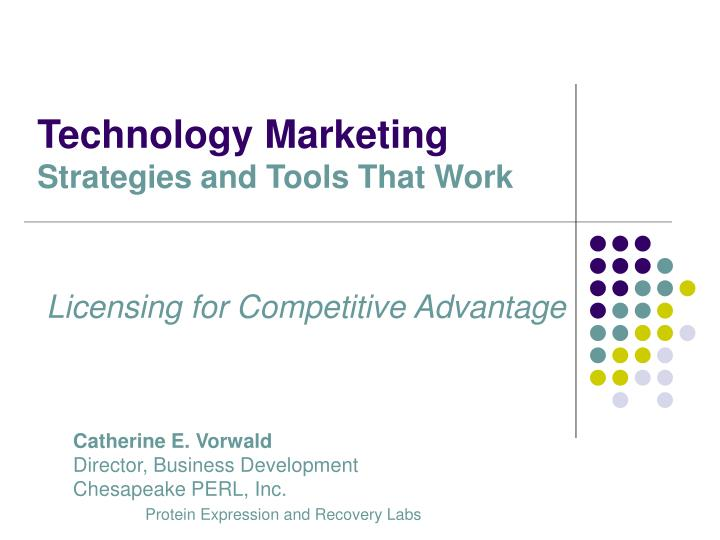 Technology marketing strategies and tools that work2