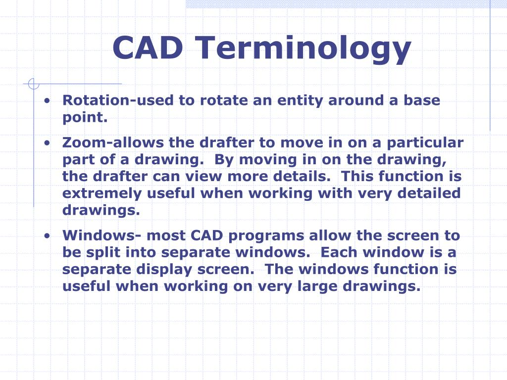 CAD Terminology