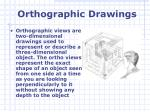 orthographic drawings