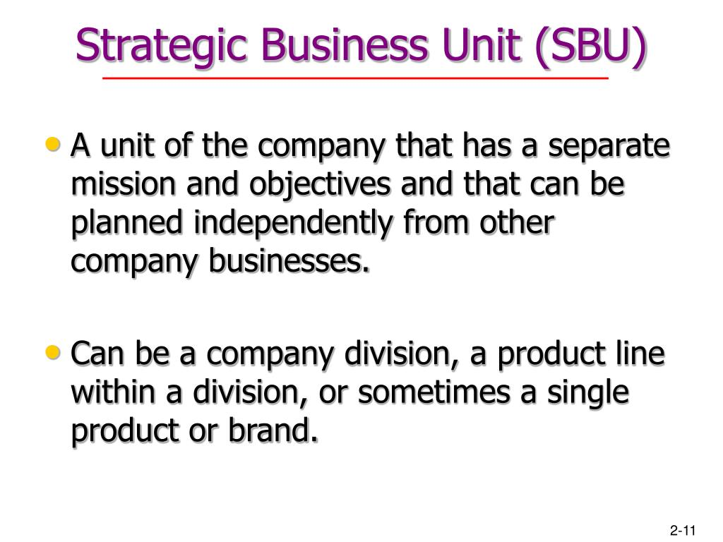 Strategic Business Unit (SBU)