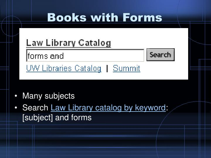 Books with Forms