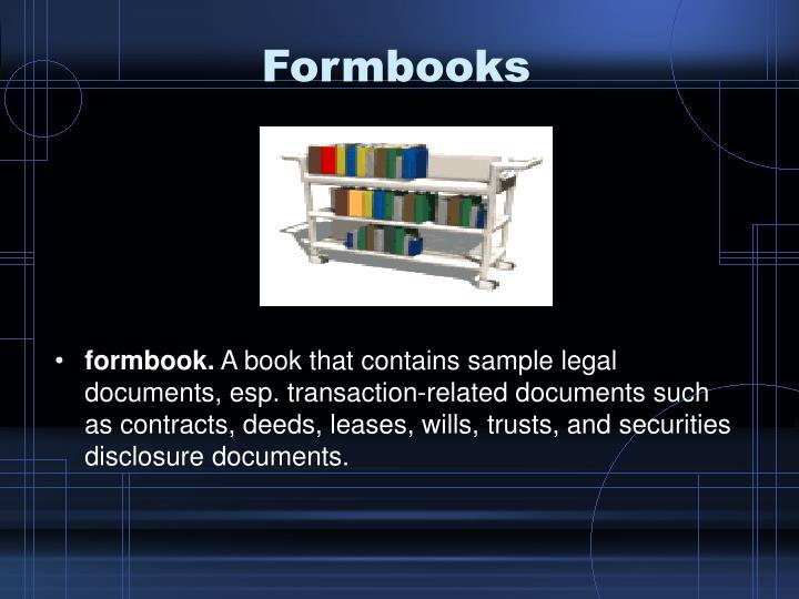 Formbooks