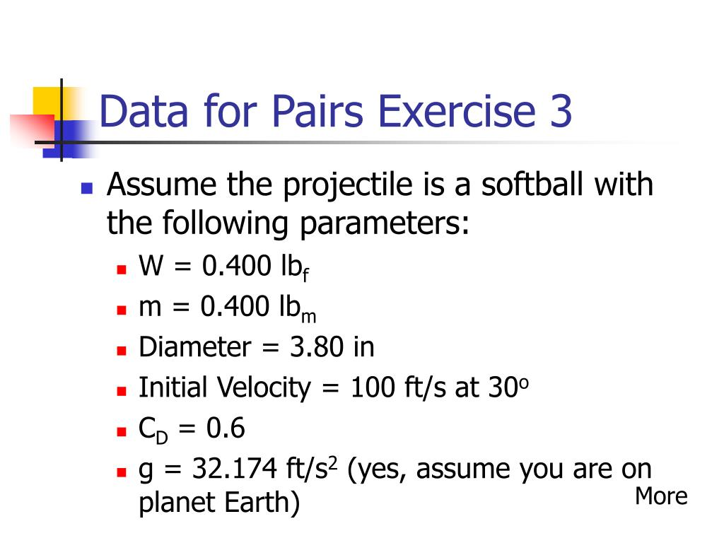 Data for Pairs Exercise 3
