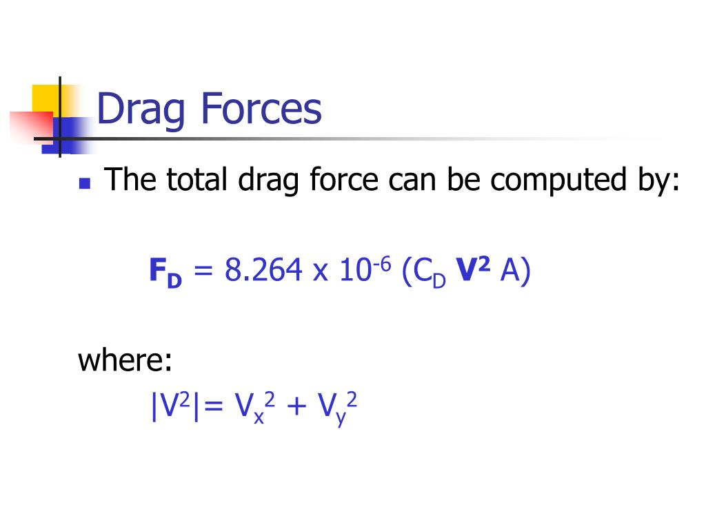 Drag Forces