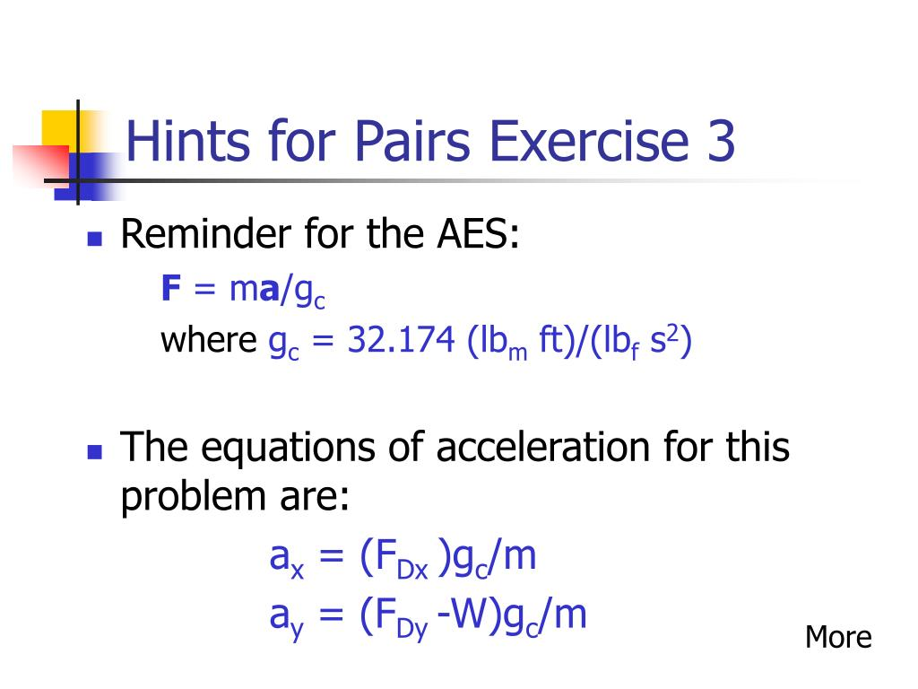 Hints for Pairs Exercise 3